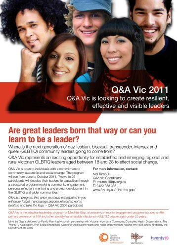 Q&A Vic 2011 - Family Planning Victoria