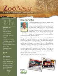 in this ISSUE - Henry Vilas Zoo