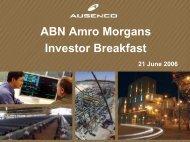 ABN AMRO Morgans Investor Seminar - Ausenco