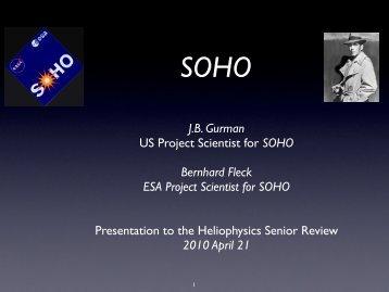 SOHO - Solar Data Analysis Center - NASA