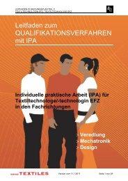Leitfaden für IPA - Textilverband Schweiz