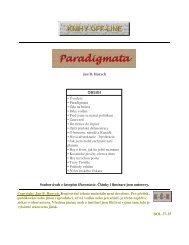 Jan B. Hurych OBSAH • Úvodem • Paradigmata ... - Hurontaria - Baf