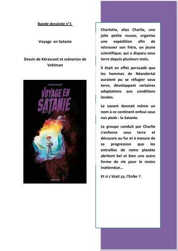 Bande dessinée n°1 Voyage en Satanie Dessin de Kérascoet et ...