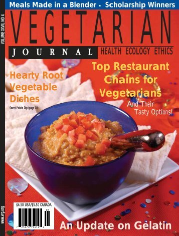 An Update on Gelatin Top Restaurant Chains for Vegetarians