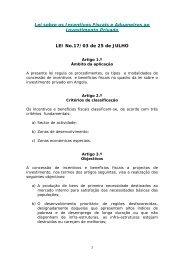 Lei sobre os Incentivos Fiscais e Aduaneiros ao Investimento ...