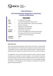 RICS CPD Event ∼ Environmental Impact Assessment ... - RICS Asia