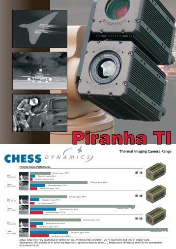 Piranha IR Camera Datasheet PDF - Chess Dynamics