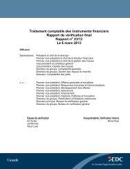 Traitement comptable des instruments financiers - Rapport de ... - EDC