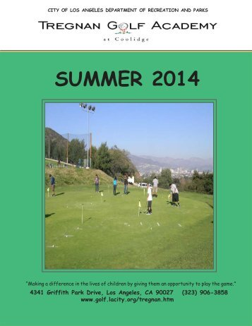Tregnan Golf Academy - City of Los Angeles Department of ...
