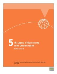 The Legacy of Reprocessing - International Panel on Fissile Materials