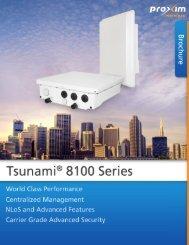 Tsunami 8100 Brochure - CB Networks