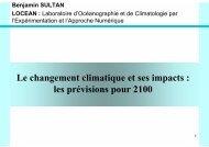 Le changement climatique et ses impacts : les prévisions ... - Locean
