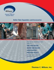 Boiler Tube Expanders & Accessories - Thomas C. Wilson