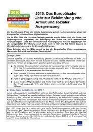 2010, Das Europäische Jahr zur Bekämpfung von Armut ... - Im Fall