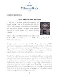 CORPORATE PROFILE Villeroy & Boch Bathroom ... - Argent Australia