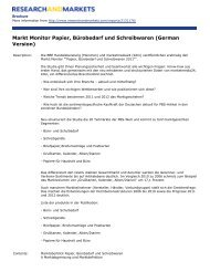 Markt Monitor Papier, Bürobedarf und Schreibwaren (German Version)