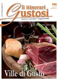 Gli itinerari Gustosi - Luglio/Agosto 2012 - Eurolactis