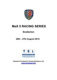 MaX 5 RACING SERIES - TSL Timing