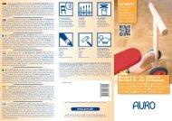 Farbkarte Buntlack und Weißlack Aqua glänzend Nr. 250 und ... - Auro