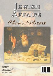 Volume 67, Number 3, Chanukah 2012 - South African Jewish ...