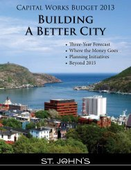 Capital Budget 2013 internet.pdf - City of St. John's