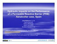 Hydraulic Impacts on the Performance of a Permeable Reactive ...