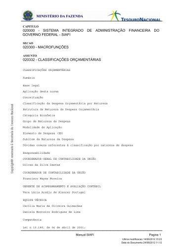 Manual SIAF Tesouro Nacional - UERN
