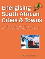 Energising SA Cities and Towns Booklet - City Energy Support Unit
