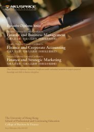 Finance and Business Management Finance and ... - HKU Space