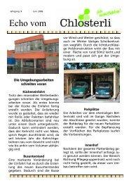 Ausgabe Juni - Altersheim Chlösterli, Unterägeri