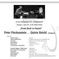 Peter Fleckenstein und Quirin Reichl Schlagzeug - Gesellschaft ...