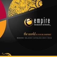 RHODE ISLAND CATALOG 2013-2014 - Empire Beauty School