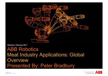 ABB Robotics Meat Industry Applications: Global Overview ...