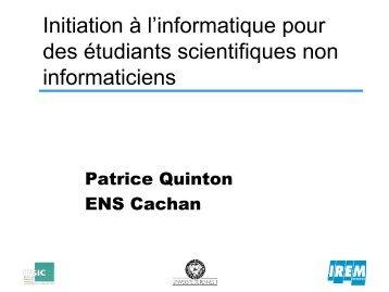 Contrat d'établissement - ENS de Cachan - Antenne de Bretagne