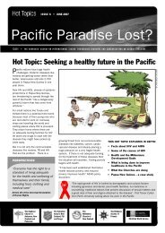 Seeking a healthy future in the Pacific - Christian World Service