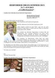 HERFORDER ORGELSOMMER 2013 - Kirchenmusik im Münster zu ...