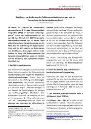 Fact sheet zum Telekommunikationsgesetz - Gerold Reichenbach
