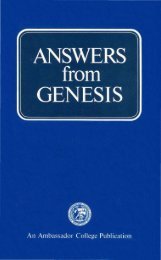 Answers from Genesis PDF - Church of God Faithful Flock