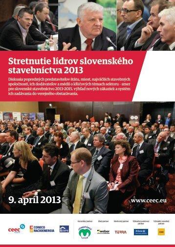 Stretnutie lídrov slovenského stavebníctva 2013