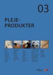 PLEJE- PRODUKTER - C. Flauenskjold A/S