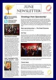June Newsletter 2013 - Operatunity