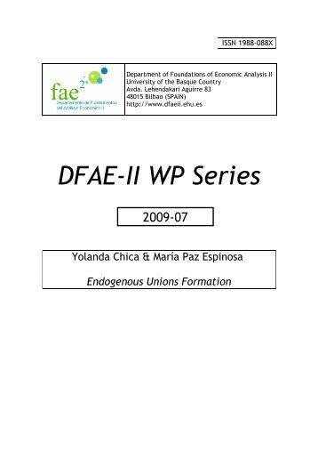 Endogenous Unions Formation - ADDI - Universidad del País Vasco