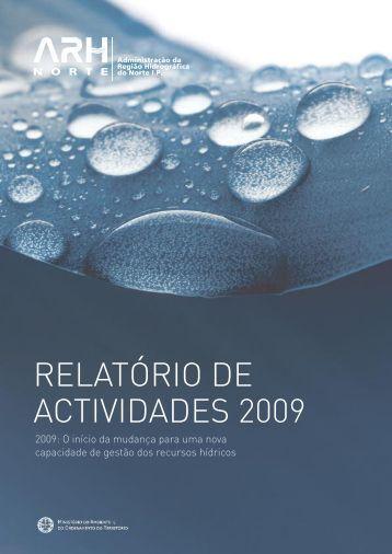 Relatório Actividades 2009 - Agência Portuguesa do Ambiente
