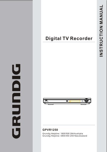 Digital TV Recorder - Grundig Australia