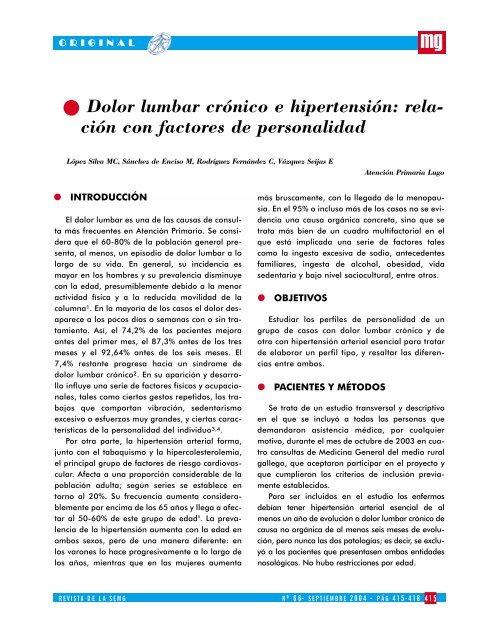 Niveles de pb de hipertensión