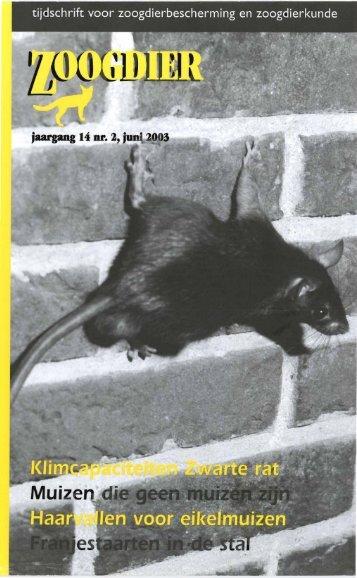 jaargang 14 nr. J, j • J 3 - Zoogdierwinkel