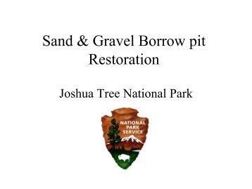 Sand & Gravel Borrow pit Restoration