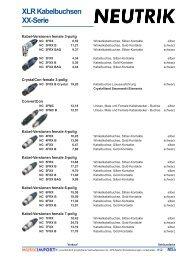 XLR Kabelbuchsen Xx-Serie