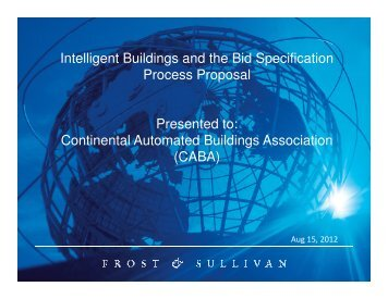 Frost & Sullivan Project Team - Continental Automated Buildings ...