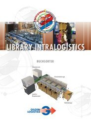 Library Intralogistics - Buchsorter - Gilgen Logistics AG